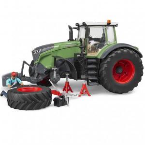 Bruder Fendt 1050 Vario traktor munkással és szervizberendezéssel (04041)