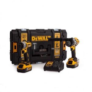 DeWalt 2 gépes ütvefúró-csavarozó/ütvecsavarozó készlet