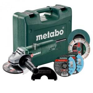 Metabo W 850-125 sarokcsiszoló szett kofferben (+ tárcsák + védőbúra)