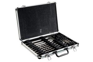 Metabo 17 részes SDS-Plus fúró- és vésőkészlet alumínium kofferben