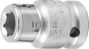 BGS Technic Golyós behajtófej-adapter | 12,5 mm (1/2 ) - Belső hatszögletű 10 mm (3/8 )
