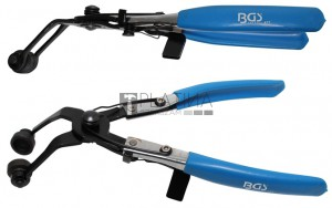 BGS Technic Tömlőbilincs fogó | hajlított | racsnis