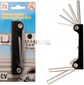 BGS Kraftmann Derékszögű kulcs készlet | belső hatszögletű 2,5 - 10 mm | 7 darabos