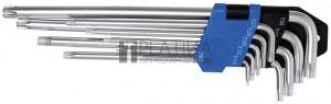 BGS Technic Derékszögű kulcs készlet | extra hosszú | T-profil (Torx) T10 - T50 | 9 darabos