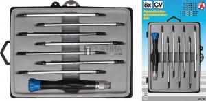 BGS Kraftmann Csavarhúzó készlet elektronikusok számára | 8 darabos