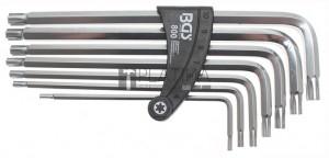 BGS Technic Derékszögű kulcs készlet | Ékprofil (RIBE) M4 - M10 | 7 darabos