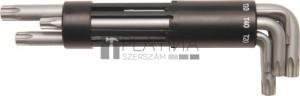 BGS Technic Derékszögű kulcs készlet | extra hosszú | T-profil (Torx) T10 furattal - T50 | 8 darabos
