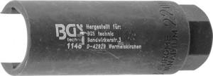 BGS Technic Lambda-szonda kulcs | 10 mm (3/8 ) | 22 mm x 90 mm | 20 mm-es hasíték