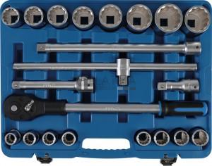 BGS Technic Dugókulcskészlet, tizenkétszögletű   20 mm (3/4)   21 darabos