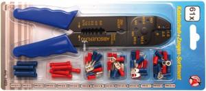BGS Kraftmann Krimpelőfogó kábelsaru-készlettel | 200 mm | 61 darabos