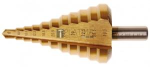 BGS Technic Lépcsős fúró | titánnal ötvözött nitrátozott | Ø 6 - 40,5 mm