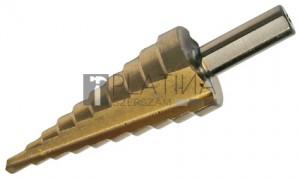 BGS Technic Lépcsős fúró | titánnal ötvözött nitrátozott | Ø 4 - 22 mm