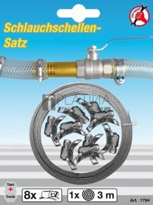 BGS Kraftmann Csőbilincs készlet |  Végtelen  | 3 m