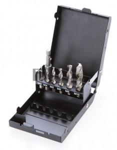 BGS Technic HSS-G fúró-/menetvágó készlet   7 darabos