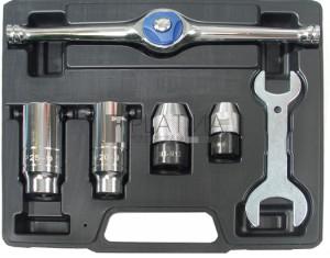 BGS Technic Feszítőszerszám-készlet menetmetsző-fúróhoz   6 darabos