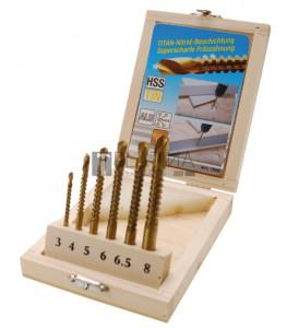 BGS Kraftmann HSS fúró-marófej készlet | 3 - 8 mm | 6 darabos