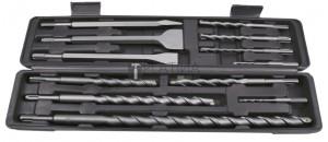 BGS Kraftmann Kalapács-, fúró- és vésőkészlet | SDS-szárral, keményfém hegy | 5 - 20 mm | 12 darabos
