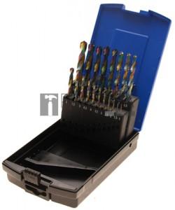 BGS Technic Spirálfúró készlet | HSS | kobalbevonatú | 1 - 10 mm | 19 darabos