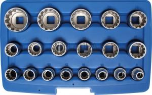 BGS Technic 19 részes dugókulcskészlet 12,5 mm (1/2 ) Gear Lock
