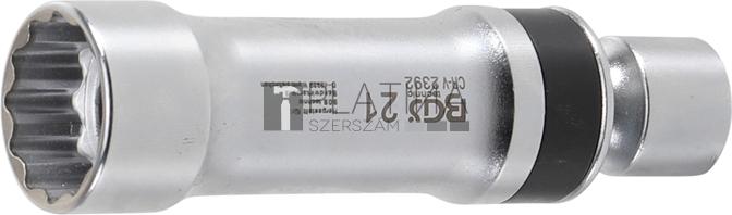 BGS Technic Gyújtógyertya csuklós toldat, tizenkétszögletű, tartórugóval | 10 mm (3/8) | 21 mm