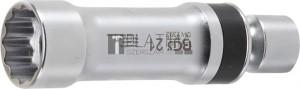 BGS Technic Gyújtógyertya csuklós toldat, tizenkétszögletű, tartórugóval | 10 mm (3/8 ) | 21 mm