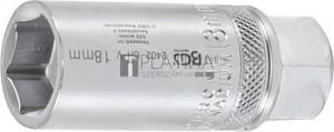 BGS Technic Gyújtógyertya kulcs, hatszögletű | 12,5 mm (1/2) | 18 mm