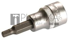 BGS Technic Behajtófej | 10 mm (3/8 ) | Belső hatszögletű 3 mm