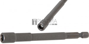BGS Technic Dugókulcs, hatszögletű, extra hosszú | Fúrógép | Külső hatszögletű 6,3 mm (1/4 ) | 6 mm