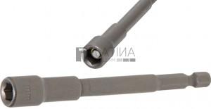 BGS Technic Dugókulcs, hatszögletű, extra hosszú | Fúrógép | Külső hatszögletű 6,3 mm (1/4 ) | 7 mm