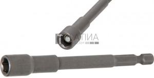 BGS Technic Dugókulcs, hatszögletű, extra hosszú | Fúrógép | Külső hatszögletű 6,3 mm (1/4 ) | 8 mm