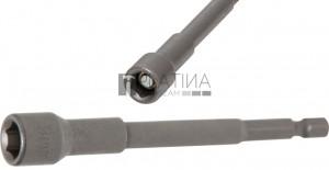 BGS Technic Dugókulcs, hatszögletű, extra hosszú | Fúrógép | Külső hatszögletű 6,3 mm (1/4 ) | 9 mm