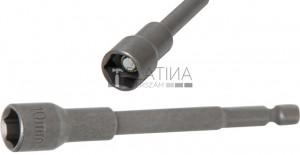 BGS Technic Dugókulcs, hatszögletű, extra hosszú | Fúrógép | Külső hatszögletű 6,3 mm (1/4 ) | 10 mm