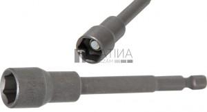 BGS Technic Dugókulcs, hatszögletű, extra hosszú | Fúrógép | Külső hatszögletű 6,3 mm (1/4 ) | 12 mm