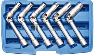 BGS Technic Hajtókaros gyertyakulcs-készlet, hatszögletű | 10 mm (3/8 ) | 8 - 16 mm | 6 darabos