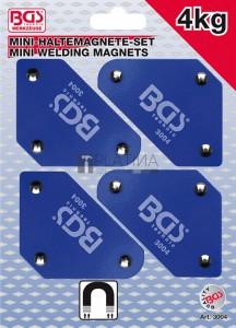 BGS Technic Miniatűr mágneses tartó készlet   45° - 90° - 135°   4 darabos