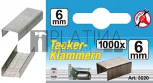 BGS Kraftmann Kapcsok | típus: 53 | 6 x Ø 1,2 mm | 1000 db