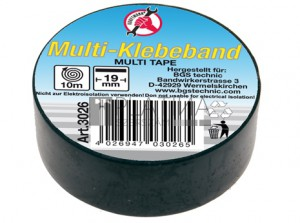 BGS Kraftmann Multi ragasztószalag | fekete | 19 mm x 10 m