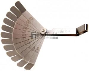 BGS Technic precíziós hézagmérő, hajlított, 12 lapos