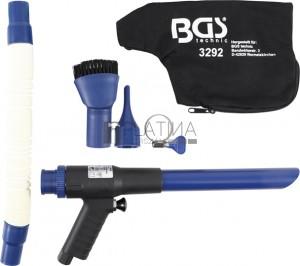 BGS Technic Sűrített levegős szívó / lefúvató pisztoly | átkapcsolható | 9 darabos