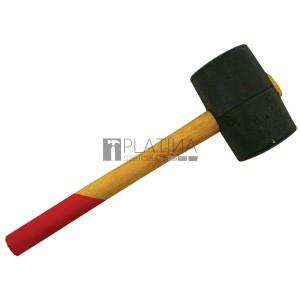 EXTOL gumikalapács, fa nyéllel; 65mm