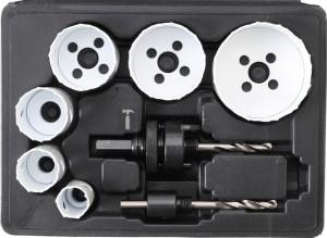 BGS Technic Lyukfűrész-készlet | Ø 22 - 65 mm | Mélység: 40 mm | 8 darabos