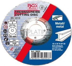 BGS Technic Vágókorong - fém | Ø 125 x 2,5 x 22,2 mm | Típus: 42