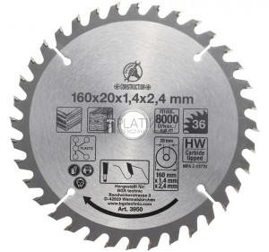 BGS Kraftmann Keményfém körfűrészlap | Ø 160 x 20 x 2,4 mm | 36 fogú