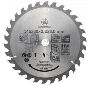 BGS Kraftmann Keményfém körfűrészlap | Ø 315 x 30 x 3,0 mm | 30 fogú