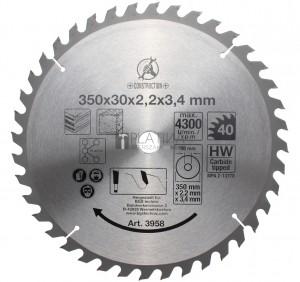 BGS Kraftmann Keményfém körfűrészlap | Ø 350 x 30 x 3,4 mm | 40 fogú
