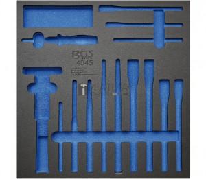 BGS Technic Műhelykocsi-betét 2/3: Pontozók, vésők, sasszeg-behajtók | 14 darabos