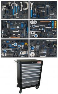 BGS Technic Műhelykocsi | 7 fiók | motorvezérlés beállító készletek