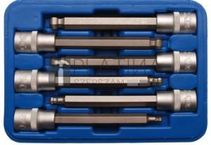 BGS Technic Behajtófej-készlet | 12,5 mm (1/2) | Belső hatszögletű gömbfejes 5 - 12 mm | 6 darabos