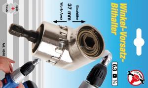BGS Kraftmann Derékszögű előtét behajtófej-tartó | külső hatszögletű kulcsnyílású hajtás 6,3 mm (1/4 ) | belső hatszögletű 6,3 mm (1/4 )