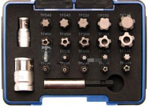 BGS Technic Behajtófej készlet | TS-profil PLUS (Torx Plus) | 23 darabos